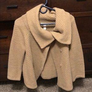 Beautiful camel hidden button sweater